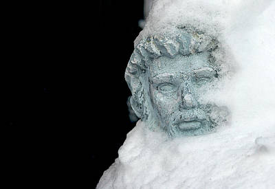Photograph - Snowy Statue by Travis Rogers
