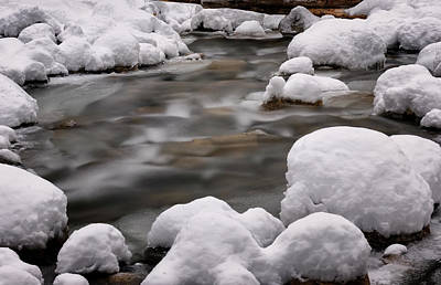 Photograph - Snowy Stickney Brook by Tom Singleton
