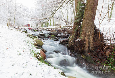 Photograph - Snowy Stream Landscape by Sophie McAulay