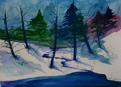 Painting - Snowy Study by Julie Lueders