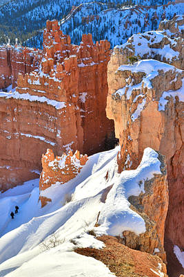 Photograph - Snowy Sunset Overlook by Ray Mathis