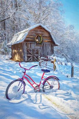 Photograph - Snowy Surprise Watercolors by Debra and Dave Vanderlaan
