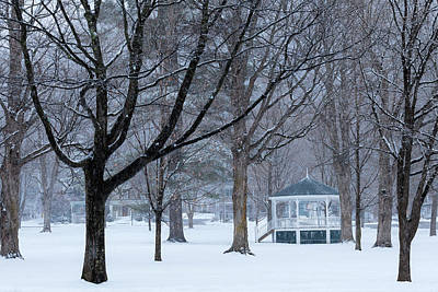 Photograph - Snowy Town Common by Alan L Graham