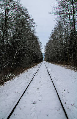 Photograph - Snowy Tracks by Perggals - Stacey Turner