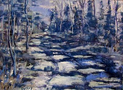 Pastel - Snowy Trail by Barbara O'Toole