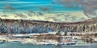 Snow Scenes Photograph - Snowy Trees On The Moose River by David Patterson