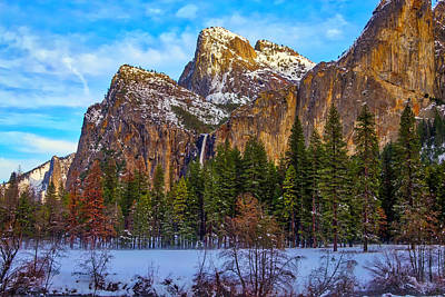 Bridalveil Falls Photograph - Snowy Valley by Garry Gay