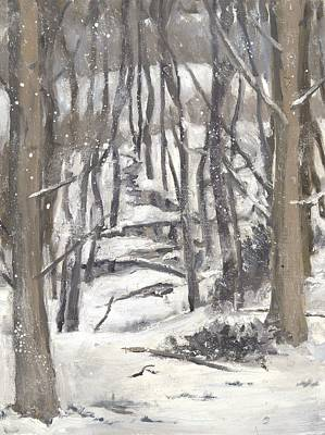 Wall Art - Painting - Snowy Valley by Katherine Farrell