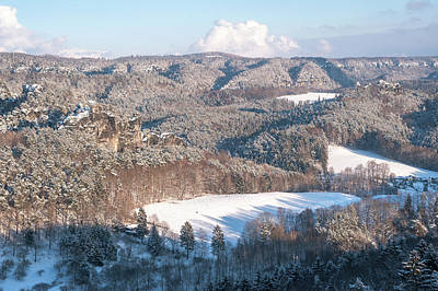 Photograph - Snowy Valleys. Saxon Switzerland by Jenny Rainbow