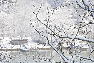 Photograph - Snowy View Across The River by Gwendolyn Christopher