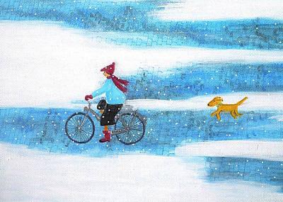 Painting - Snowy Weather by Stefanie Stark