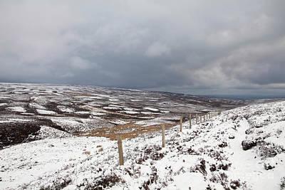 Photograph - Snowy West Bolton Moor by Gavin Dronfield