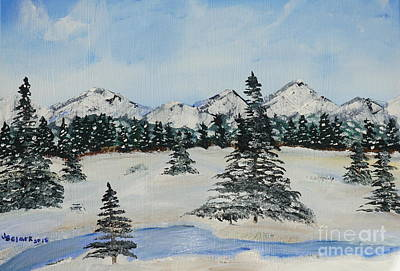 Painting - Snowy Winter by Jimmy Clark