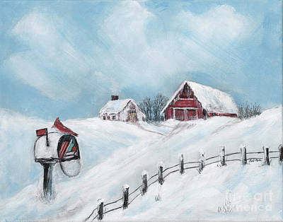 Painting - Snowy Winter by Pati Pelz