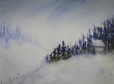 Painting - Snowy Winter by Terry Ann Morris