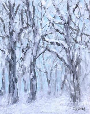 Painting - Snowy Woods  by Wonju Hulse