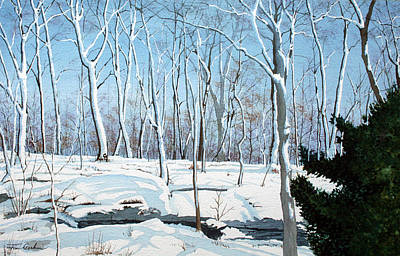 Snowy Wood Original by Jim Gerkin