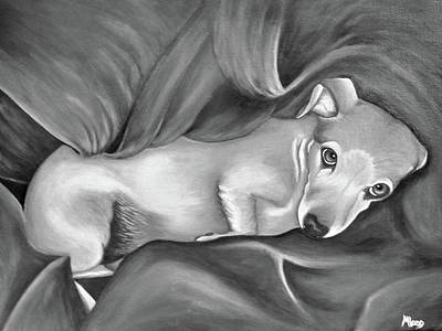 Painting - Snug And Cozy Bw by Michelle Joseph-Long