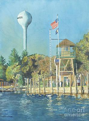 Painting - Snug Harbor I by LeAnne Sowa