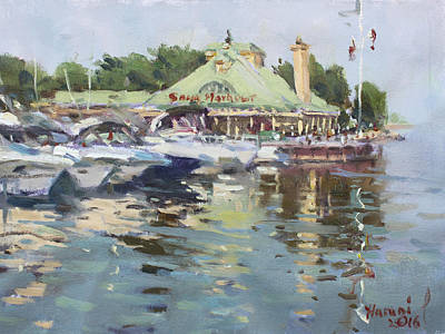 Yacht Painting - Snug Harbour Mississauga On by Ylli Haruni
