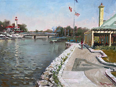 Lighthouse Painting - Snug Harbour Restaurant by Ylli Haruni