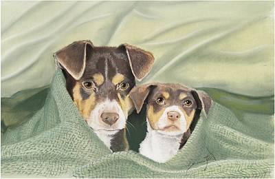 Snuggle Buddies Art Print by Barbara Keel