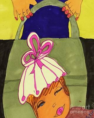 Asleep Mixed Media - Snuggled In My Stroller by Elinor Rakowski