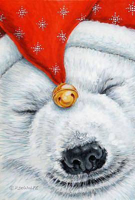 Snuggy Bear Art Print by Richard De Wolfe