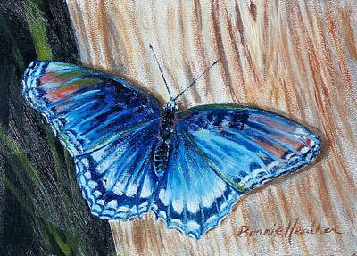 Art Print featuring the painting So Blue by Bonnie Heather