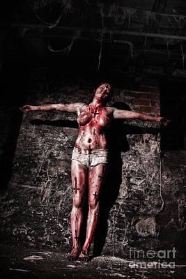Crucify Photograph - So Crucify Me By Mary Bassett by Mary Bassett