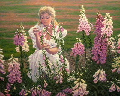 Oil Painting - So Delicate And Lovely A Bloom by Barry DeBaun