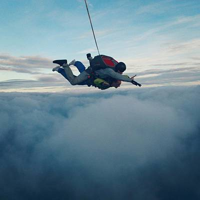 Extreme Sport Photograph - Skydiving  by Ginte Skarelyte