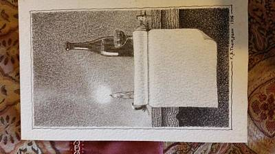 Luminous Drawing - So It Was Written, Wine It Is. by Anthony Murtaugh