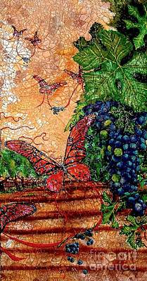 So Long And Thanks For All The Grapes Art Print by Ron Carter
