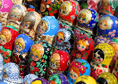 Matryoshka Photograph - So Many Girls So Little Time by Doug Matthews