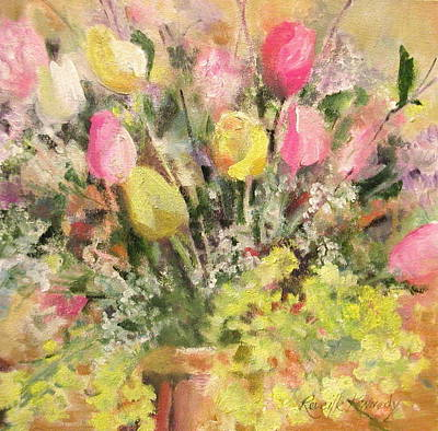 Oil Slick Painting - So Many Tulips by Reveille Kennedy
