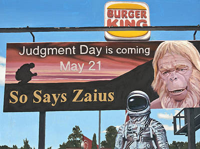 Ape Wall Art - Painting - So Says Zaius by Scott Listfield
