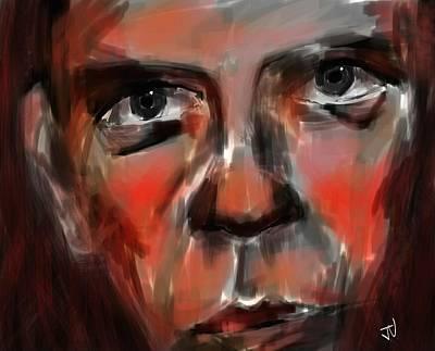 Digital Art - So Serious by Jim Vance