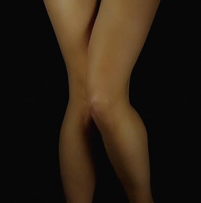 Female Body Photograph - So Shy by Donna Blackhall