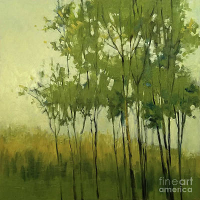 So Tall Tree Forest Landscape Painting Art Print