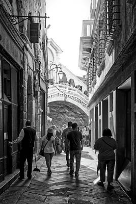 Photograph - So There Is The Rialto Bridge by Fine Art Photography Prints By Eduardo Accorinti