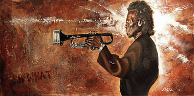 Painting - So What-miles Davis by Jerome White