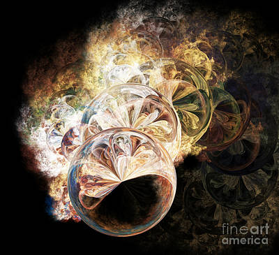 Digital Art - Soap Bubbles 3 by Ed Churchill