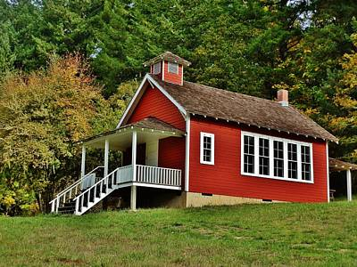 Photograph - Soap Creek Schoolhouse by VLee Watson