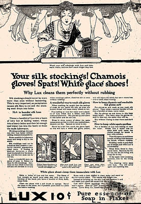 Your Home Drawing - Your Silk Stockings Vintage Soap Ad by Anne Kitzman