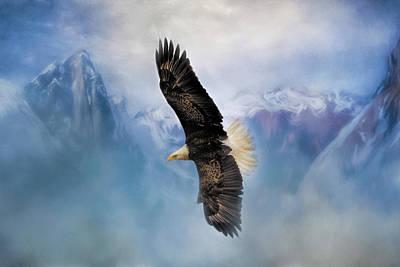 Photograph - Soaring Bald Eagle Art By Jai Johnson by Jai Johnson