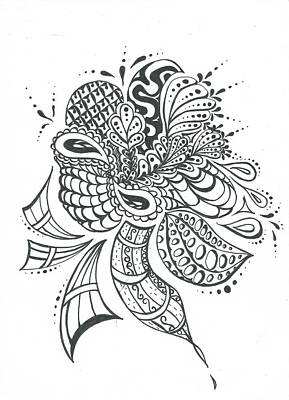Soaring Drawing - Soaring by Delila Bishop