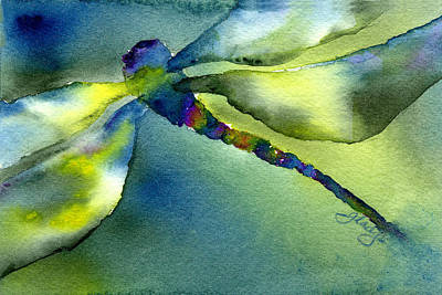 Loose Painting - Soaring Dragonfly by Gladys Folkers