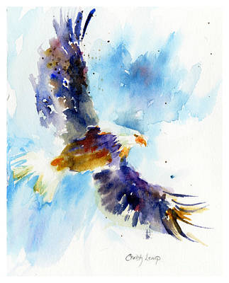 Painting - Soaring Eagle by Christy Lemp