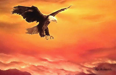 Soaring Painting - Soaring High by Faye Anastasopoulou